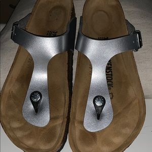 Only worn once!  Birkenstock sandals - size 39 -